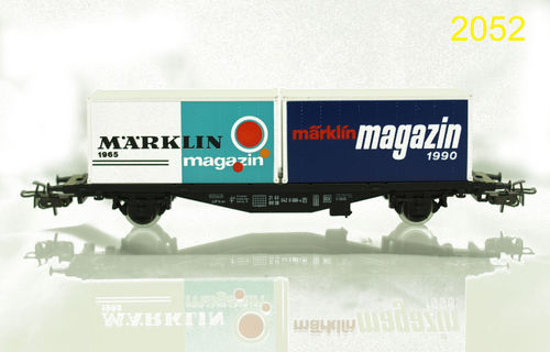 "Märklin 84670 ""Märklin Magazin 1990"" Containertragwagen Container Carrier  OVP"